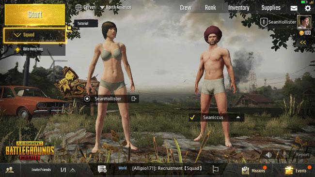Игра в команде PUBG Mobile