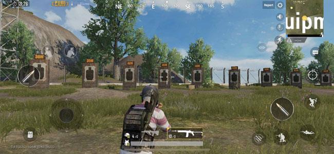 Игра в тренировочном лагере PUBG Mobile