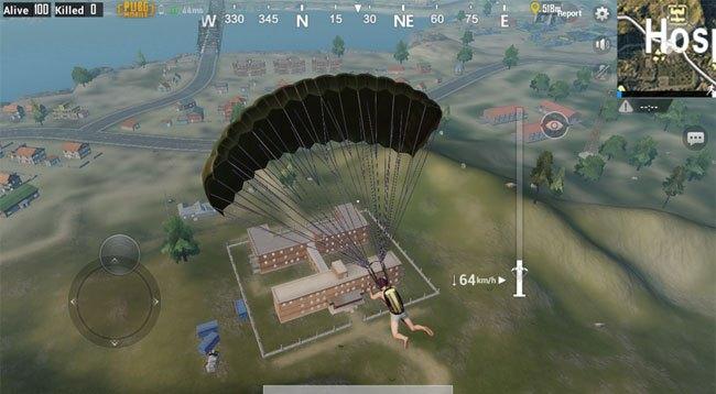 Прыжок с парашута PUBG Mobile на андроид